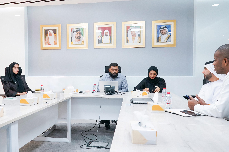 زيارة وفد من إدارة أمن المواصلات في شرطة دبي إلى المركز فبراير 2020