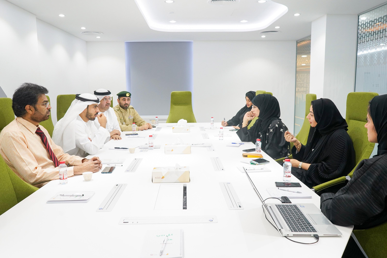 اجتماع مع إدارة الطوارئ والأزمات والكوارث في شرطة دبي فبراير 2020