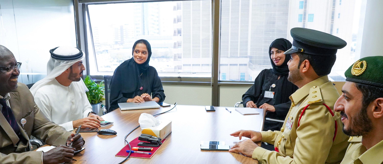 زيارة وفد من الإدارة العامة لأمن المطارات في شرطة دبي للمركز فبراير 2020
