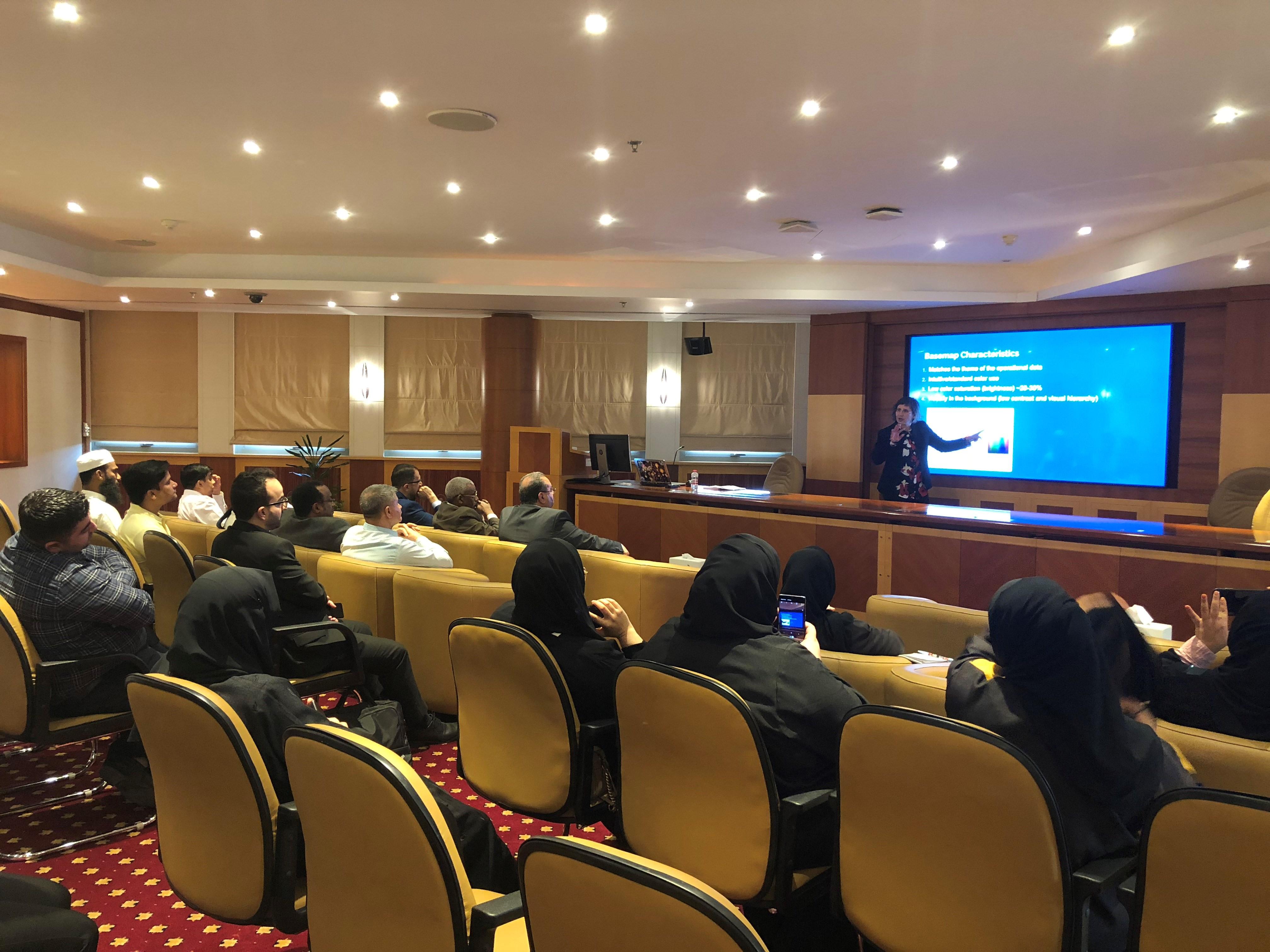ورشة عمل لزيادة القدرة التنافسية لموظفي حكومة دبي على الخرائط المطبوعة والرقمية ديسمبر 2019