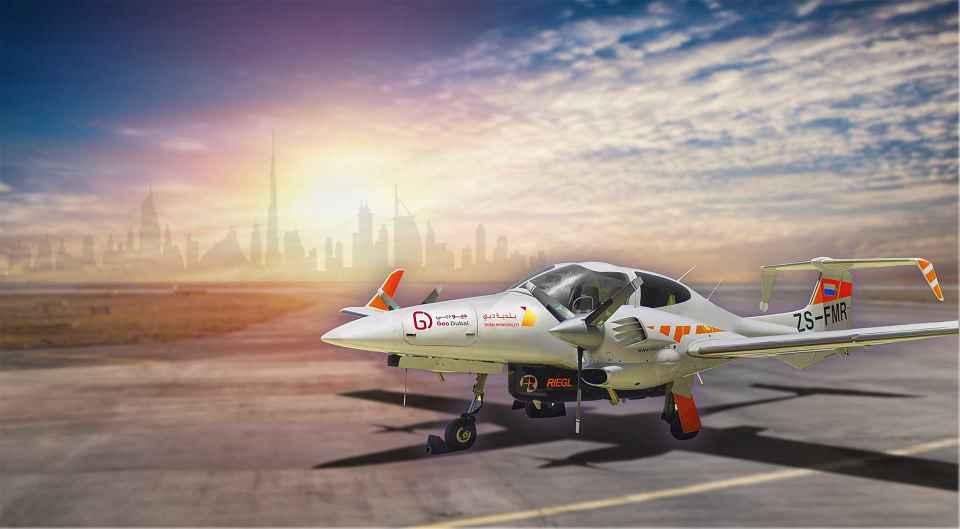 GeoDubai roaming the sky of Dubai August 2021